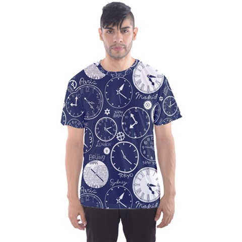 World Clocks Men s Sport Mesh Tee by Mariart