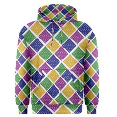 African Illutrations Plaid Color Rainbow Blue Green Yellow Purple White Line Chevron Wave Polkadot Men s Pullover Hoodie by Mariart