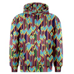 Building City Plaid Chevron Wave Blue Green Men s Zipper Hoodie by Mariart
