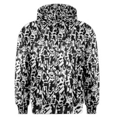 Deskjet Ink Splatter Black Spot Men s Zipper Hoodie by Mariart