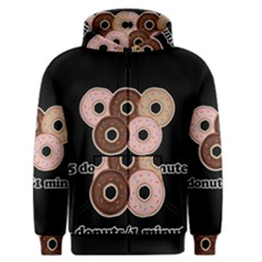 Five Donuts In One Minute  Men s Zipper Hoodie by Valentinaart