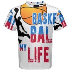 Basketball Is My Life Men s Cotton Tee by Valentinaart