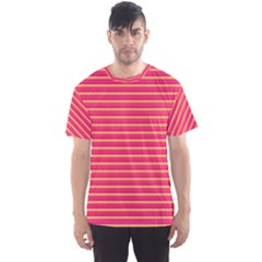 Decorative Lines Pattern Men s Sport Mesh Tee by Valentinaart