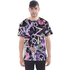 Chaos With Letters Black Multicolored Men s Sport Mesh Tee