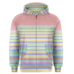 All Ratios Color Rainbow Pink Yellow Blue Green Men s Zipper Hoodie by Mariart