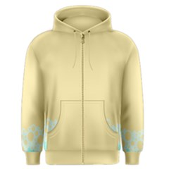 Bubbles Yellow Blue White Polka Men s Zipper Hoodie by Mariart
