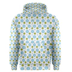 Blue Yellow Star Sunflower Flower Floral Men s Pullover Hoodie by Mariart