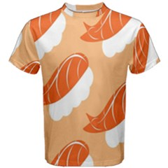 Fish Eat Japanese Sushi Men s Cotton Tee by Mariart