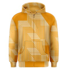 Orange Line Plaid Men s Zipper Hoodie by Mariart