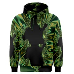Burning Ship Fractal Silver Green Hole Black Men s Pullover Hoodie by Mariart
