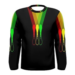 Lamp Colors Green Yellow Red Black Men s Long Sleeve Tee by Mariart