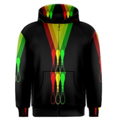 Lamp Colors Green Yellow Red Black Men s Zipper Hoodie by Mariart