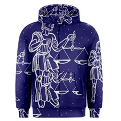 Libra Zodiac Star Men s Zipper Hoodie by Mariart