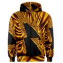 Hole Gold Black Space Men s Zipper Hoodie View1