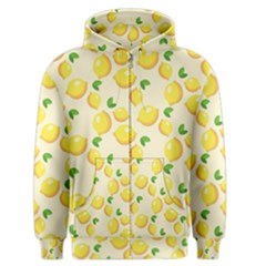 Lemons Pattern Men s Zipper Hoodie by Nexatart