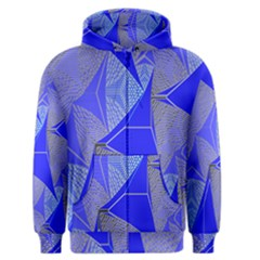 Wave Chevron Plaid Circle Polka Line Light Blue Triangle Men s Zipper Hoodie by Mariart