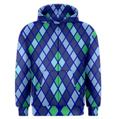 Blue Diamonds Green Grey Plaid Line Chevron Men s Zipper Hoodie by Mariart