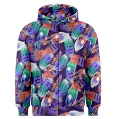 Bird Feathers Color Rainbow Animals Fly Men s Zipper Hoodie