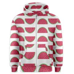 Watermelon Pattern Men s Zipper Hoodie by Nexatart