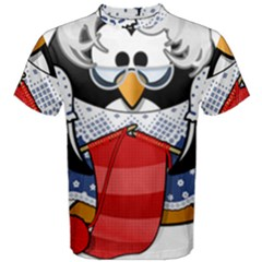 Grandma Penguin Men s Cotton Tee