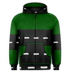 Road Street Green Black White Line Men s Zipper Hoodie by Mariart