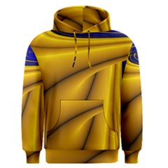 Waves Wave Chevron Gold Blue Paint Space Sky Men s Pullover Hoodie by Mariart