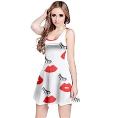 Smooch Pattern Design Reversible Sleeveless Dress by Nexatart