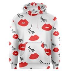 Smooch Pattern Design Men s Pullover Hoodie by Nexatart