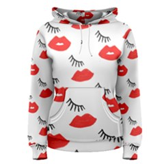 Smooch Pattern Design Women s Pullover Hoodie by Nexatart