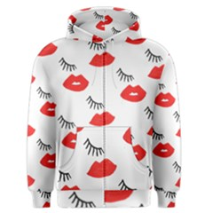 Smooch Pattern Design Men s Zipper Hoodie by Nexatart