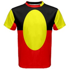Flag Of Australian Aborigines Men s Cotton Tee by Nexatart