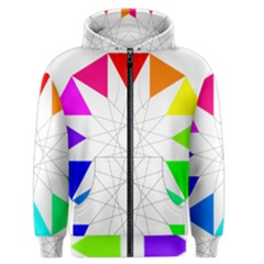 Rainbow Dodecagon And Black Dodecagram Men s Zipper Hoodie by Nexatart