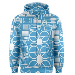 Drones Registration Equipment Game Circle Blue White Focus Men s Zipper Hoodie by Mariart
