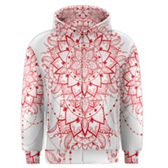 Mandala Pretty Design Pattern Men s Zipper Hoodie by Nexatart