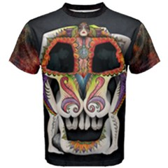 the Sugar Skull    Men s Cotton Tee