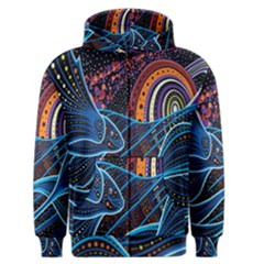 Fish Out Of Water Monster Space Rainbow Circle Polka Line Wave Chevron Star Men s Zipper Hoodie by Mariart