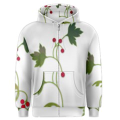 Element Tag Green Nature Men s Zipper Hoodie by Nexatart