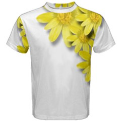 Flowers Spring Yellow Spring Onion Men s Cotton Tee by Nexatart