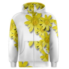 Flowers Spring Yellow Spring Onion Men s Zipper Hoodie by Nexatart