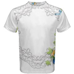 Scrapbook Element Lace Embroidery Men s Cotton Tee by Nexatart