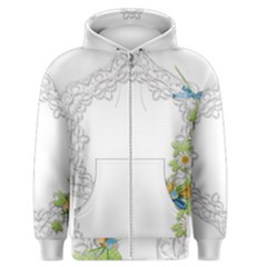 Scrapbook Element Lace Embroidery Men s Zipper Hoodie by Nexatart