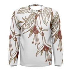 Floral Spray Gold And Red Pretty Men s Long Sleeve Tee by Nexatart