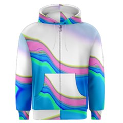Aurora Color Rainbow Space Blue Sky Purple Yellow Green Men s Zipper Hoodie by Mariart