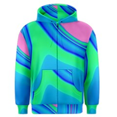 Aurora Color Rainbow Space Blue Sky Men s Zipper Hoodie by Mariart