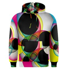 Apollonius Color Multi Circle Polkadot Men s Pullover Hoodie by Mariart