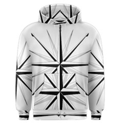 Compase Star Rose Black White Men s Zipper Hoodie by Mariart
