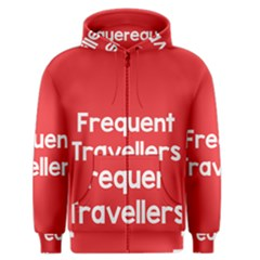 Frequent Travellers Red Men s Zipper Hoodie by Mariart