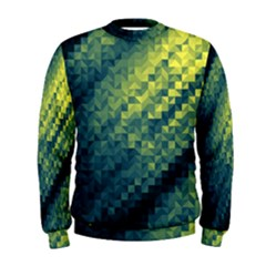 Polygon Dark Triangle Green Blacj Yellow Men s Sweatshirt by Mariart