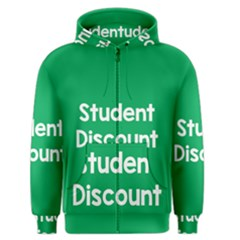 Student Discound Sale Green Men s Zipper Hoodie by Mariart