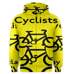 Stay Classy Bike Cyclists Sport Men s Zipper Hoodie by Mariart